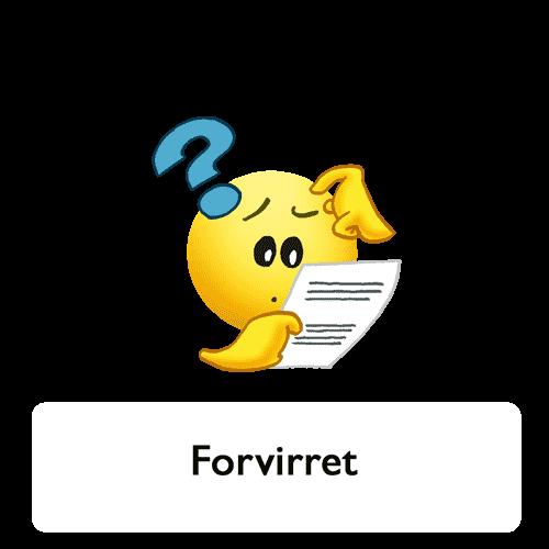Emoji - forvirret